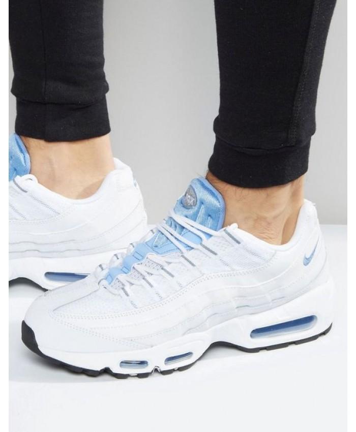 Chaussures Nike Air Max 95 Essential Blanc Bleu