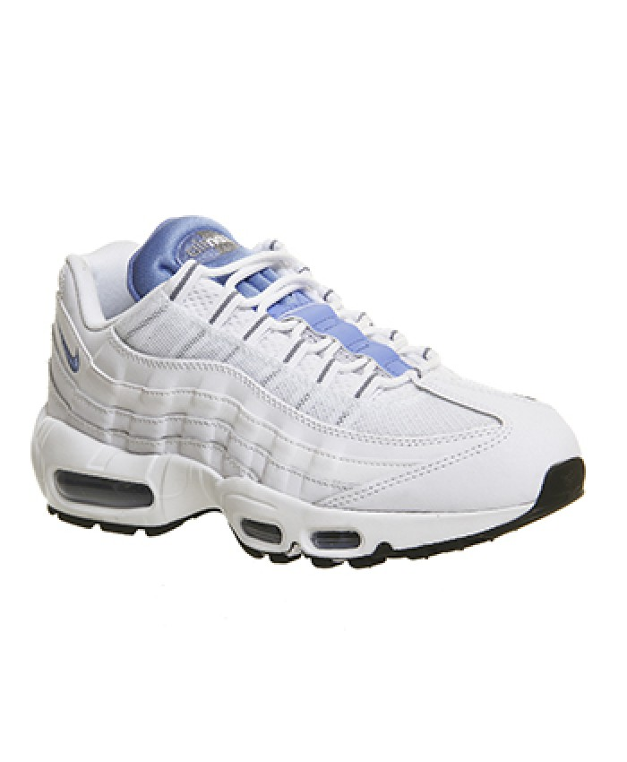 chaussures nike air max 95 essential blanc bleu. Black Bedroom Furniture Sets. Home Design Ideas