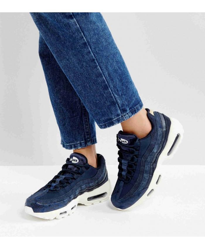 Chaussures Nike Air Max 95 Premium Bleu Blanc