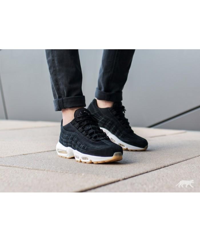 Chaussures Nike Air Max 95 Premium Noir Blanc