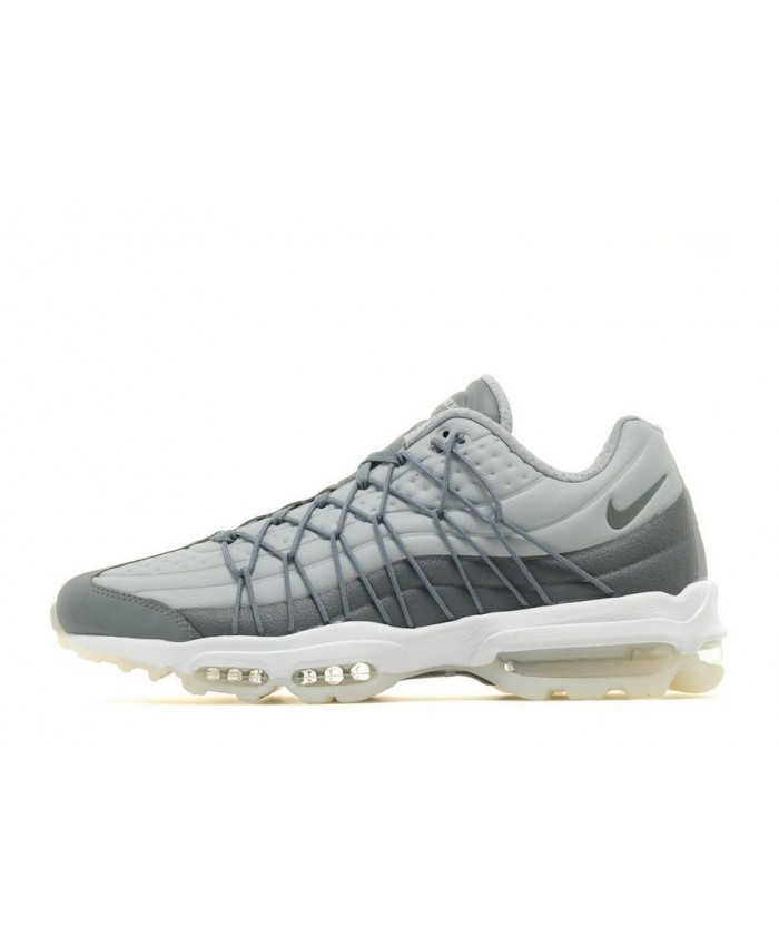 Chaussures Nike Air Max 95 Ultra Gris Blanc