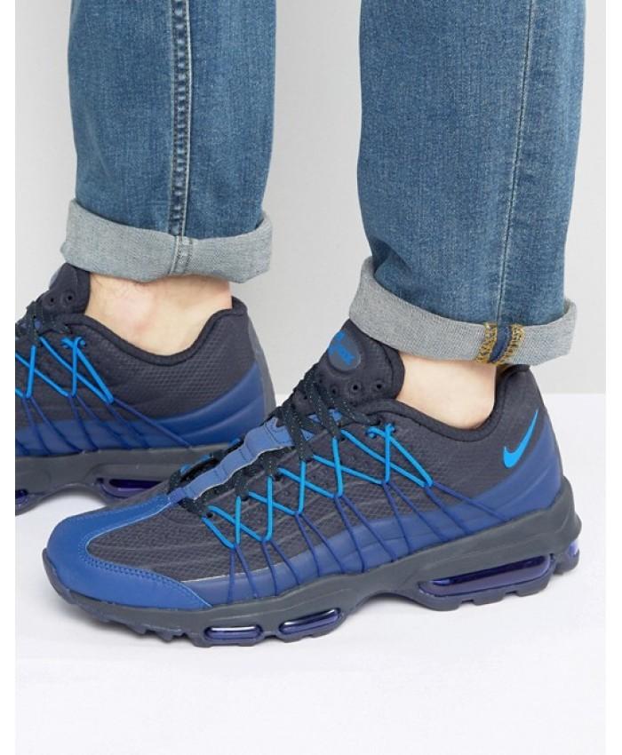 Chaussures Nike Air Max 95 Ultra SE Bleu Noir