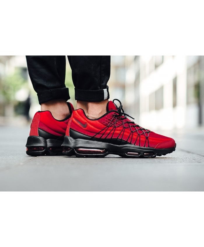 Chaussures Nike Air Max 95 Ultra SE Rouge Noir