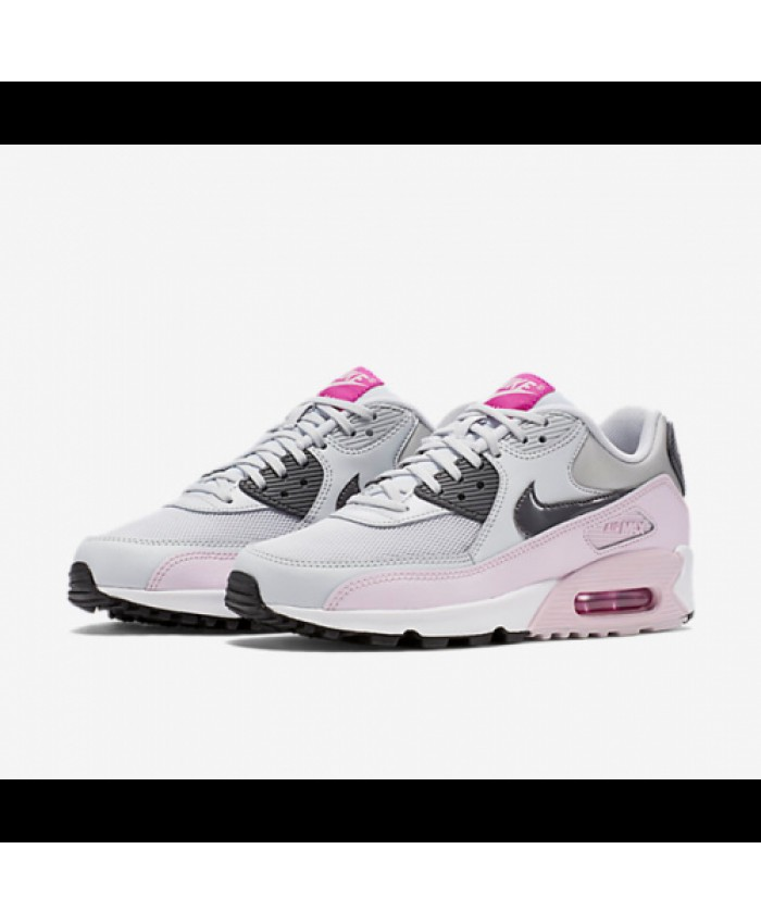 femme nike air max 90 essential light rose gris. Black Bedroom Furniture Sets. Home Design Ideas