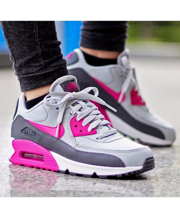 Femme Nike Air Max 90 Essential Rose Gris