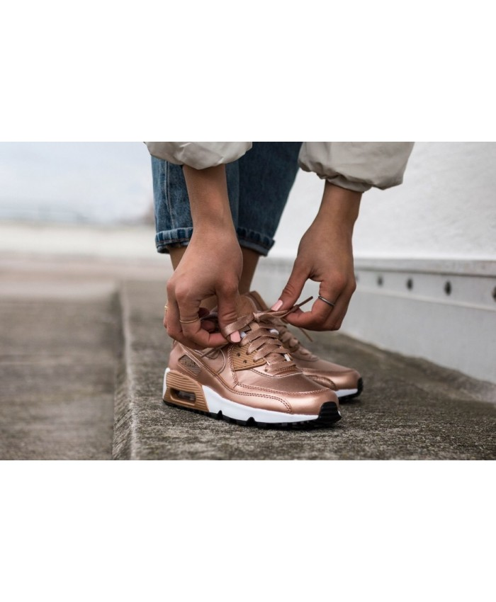 Femme Nike Air Max 90 Junior Leather Rose Gold
