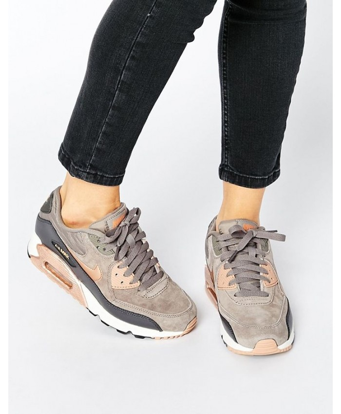 Femme Nike Air Max 90 Leather Iron Metallic Red Bronze Sail