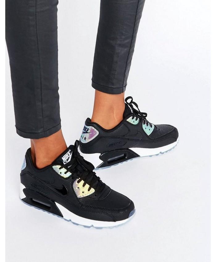 Femme Nike Air Max 90 Premium Holographique Noir
