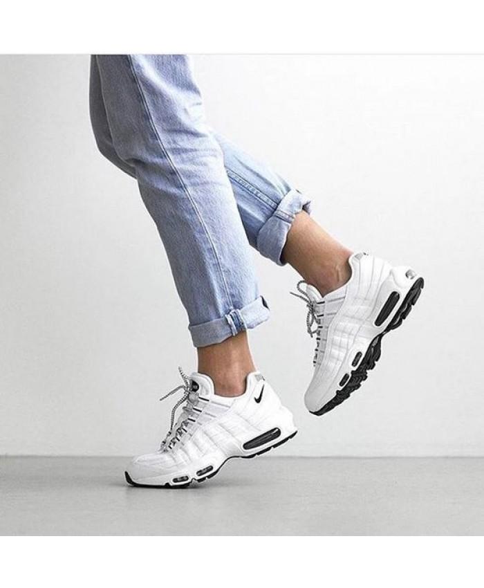 Femme Nike Air Max 95 Blanc Noir