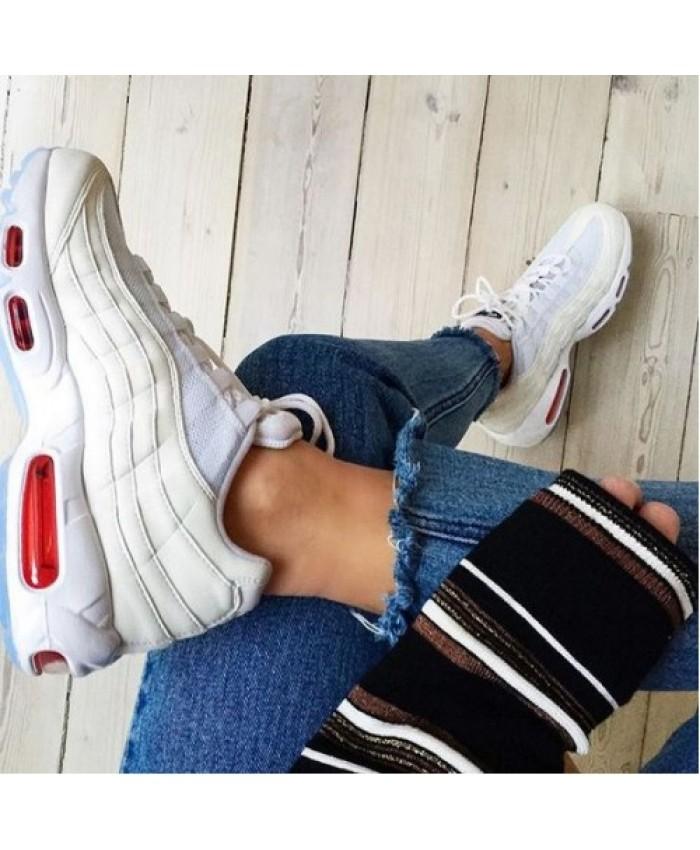Femme Nike Air Max 95 Blanc Rouge