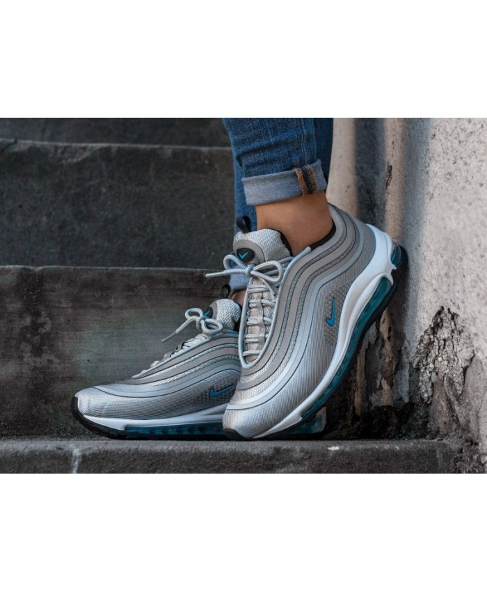 femme nike air max 97 ultra 17 gris blanc bleu. Black Bedroom Furniture Sets. Home Design Ideas