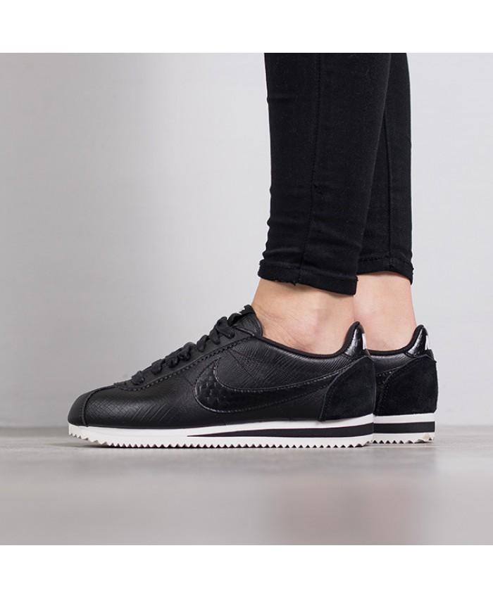 Femme Nike Classic Cortez Cuir Premium Tout Noir