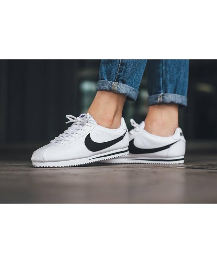 Femme Nike Cortez Blanc Noir