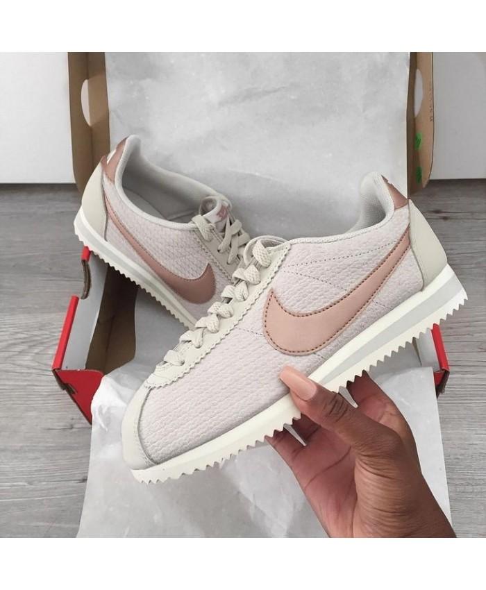 Femme Nike Cortez Blanc Rose Gold