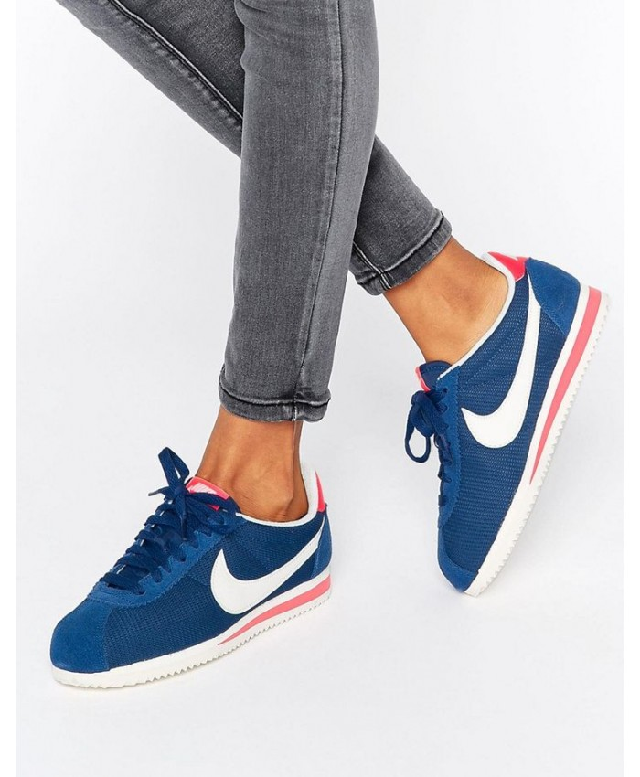 Femme Nike Cortez Bleu Blanc Rouge