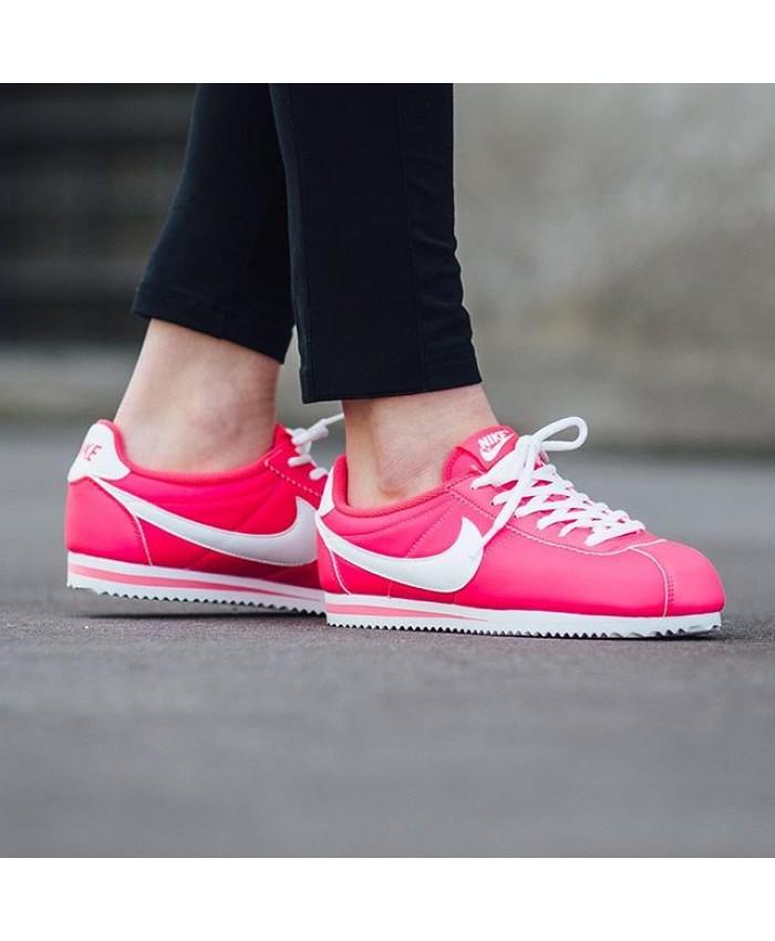 Femme Nike Cortez Hyper Rose Blanc