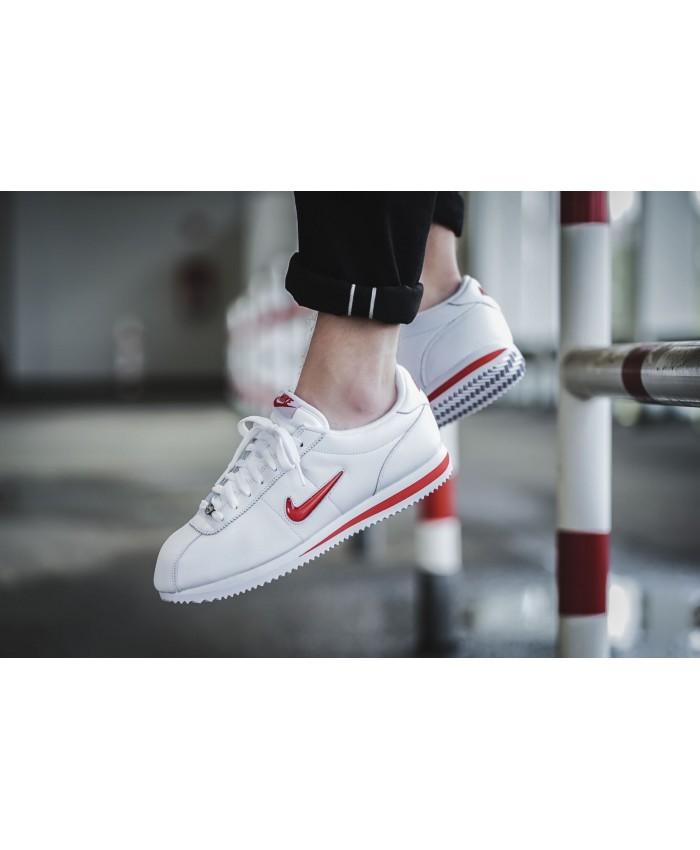 Femme Nike Cortez Jewel Blanc Rouge