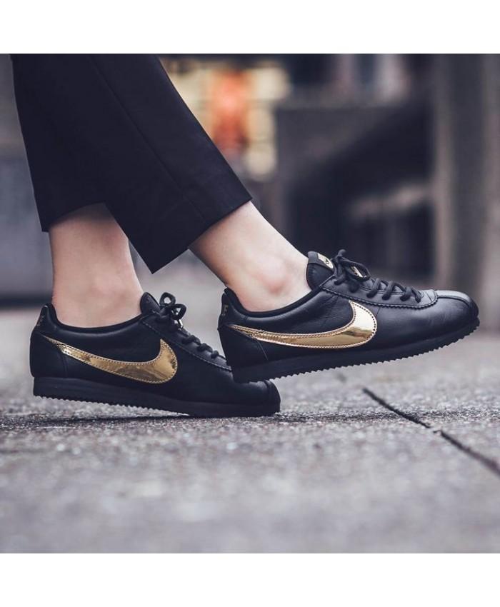 Femme Nike Cortez QS Métallique Gold Noir