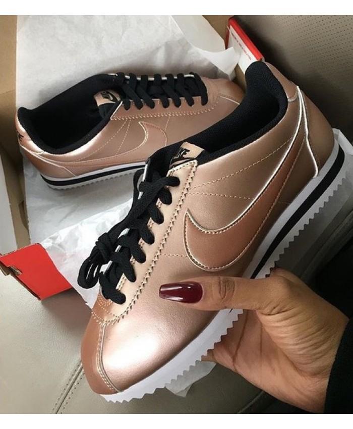 Femme Nike Cortez Rose Gold Noir