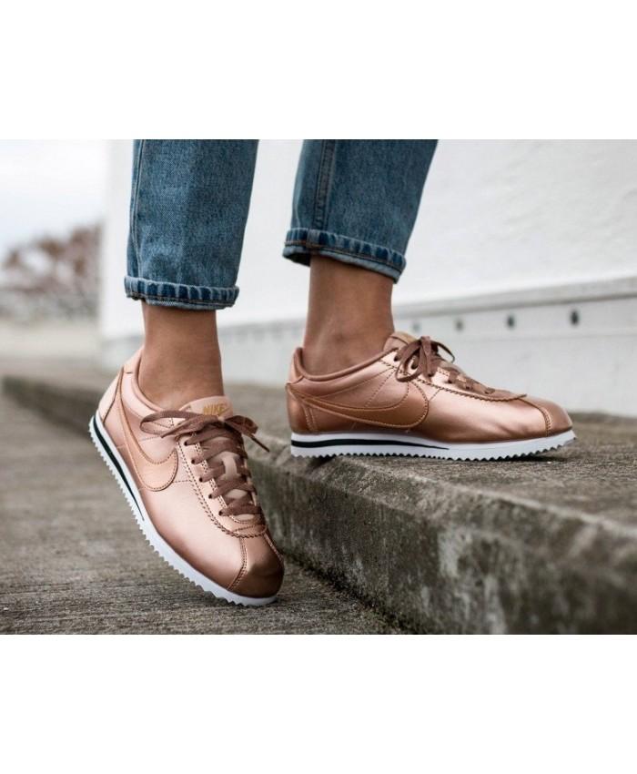 Femme Nike Cortez SE GS Métallique Rouge Bronze