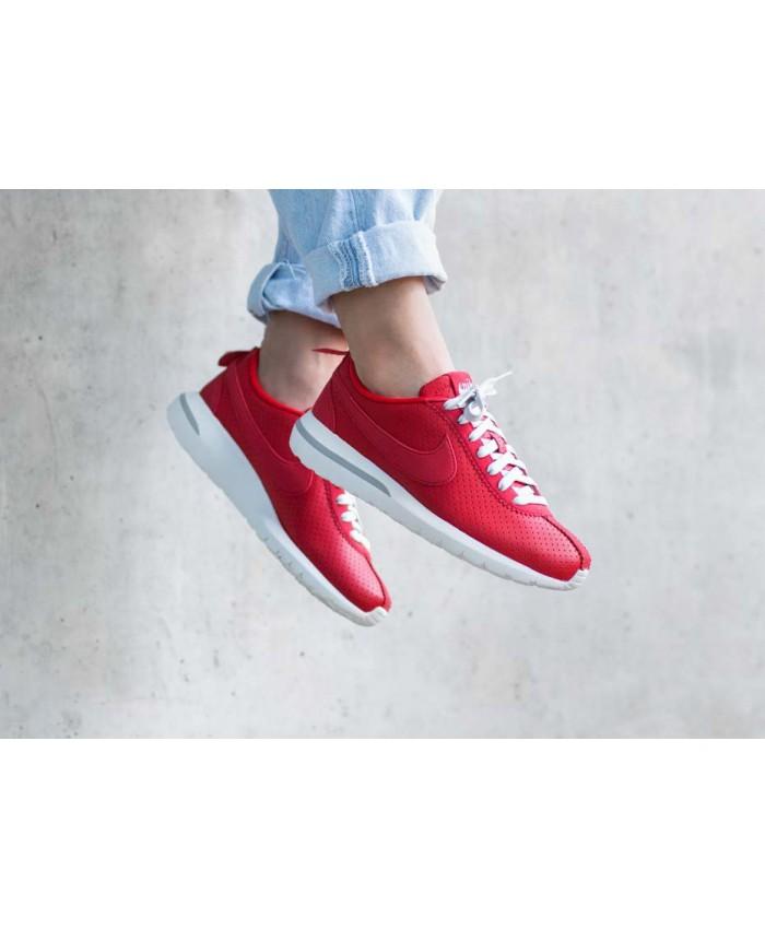 Femme Nike Roshe Cortez NM Rouge Blanc