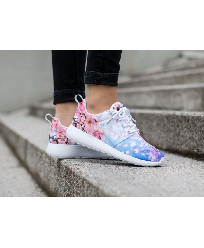 Femme Nike Roshe Run Blanc Pure Platinum Cherry Blossom