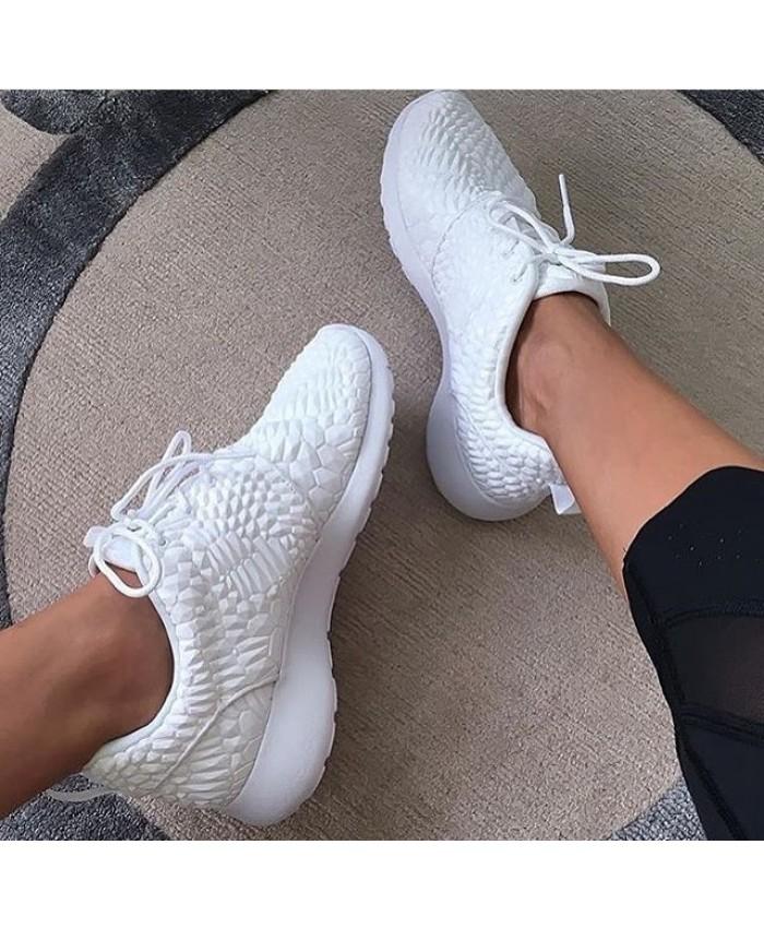 Femme Nike Roshe Run Diamondback Blanc