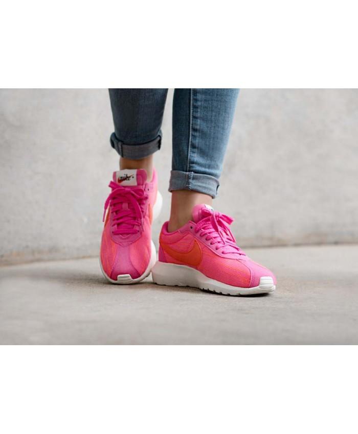 Femme Nike Roshe Run LD-1000 Rose Blanc Orange