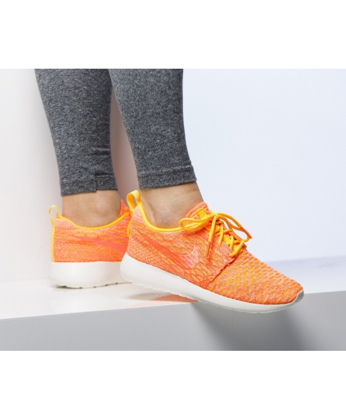 Femme Nike Roshe Run Roshe One Flyknit Orange