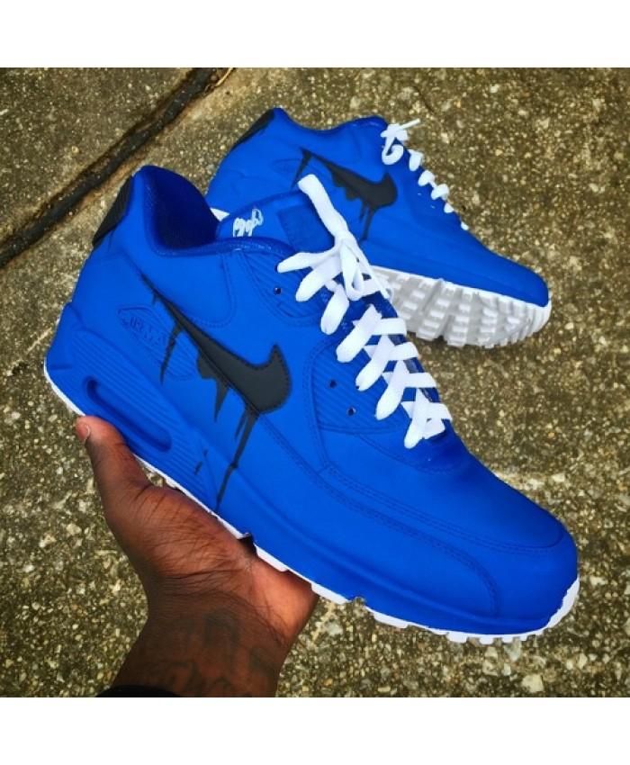 Homme Nike Air Max 90 Candy Drip Melt Bleu Noir Blanc