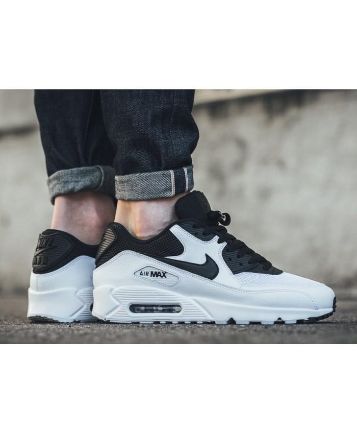 Homme Nike Air Max 90 Essential Blanc Noir
