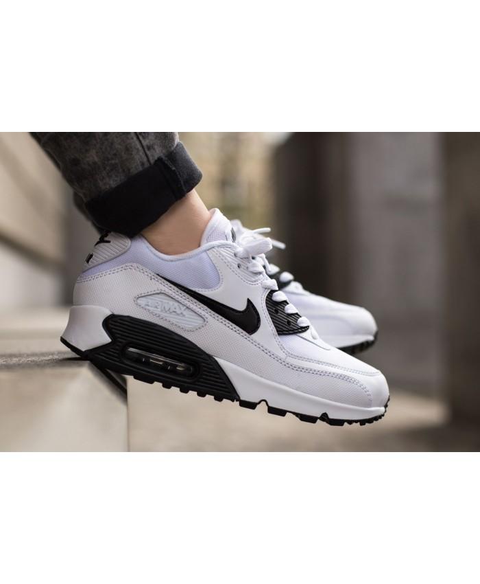 Homme Nike Air Max 90 Essential Essential Blanc Noir