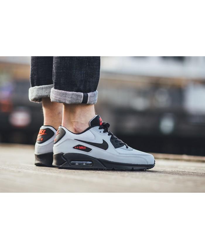 Homme Nike Air Max 90 Essential Gris Noir