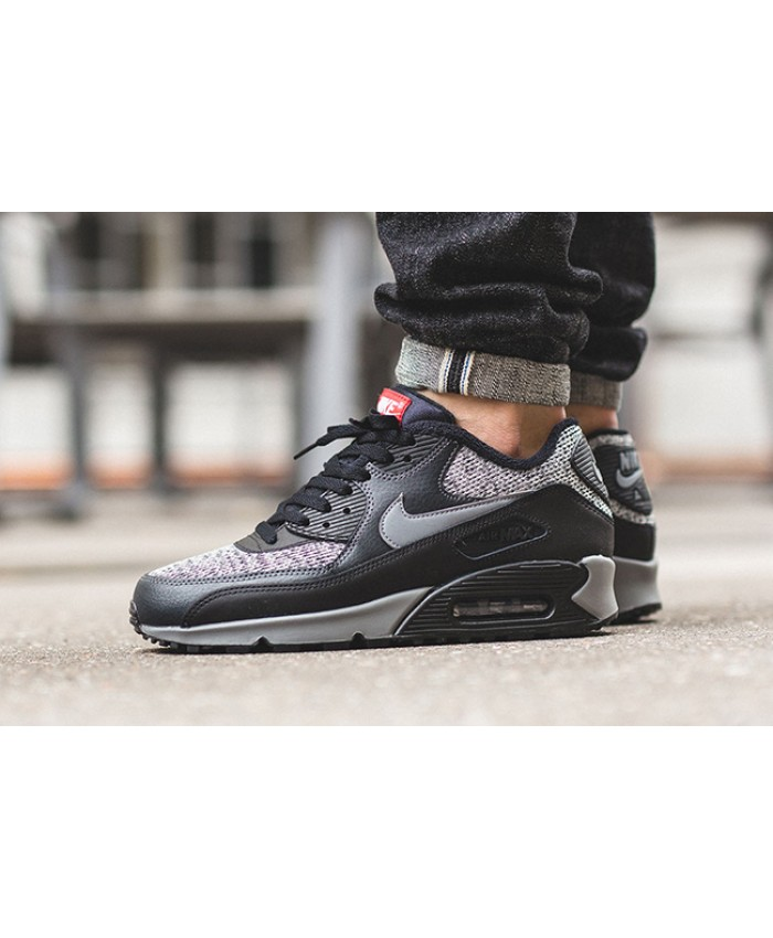 Homme Nike Air Max 90 Essential Knit Noir