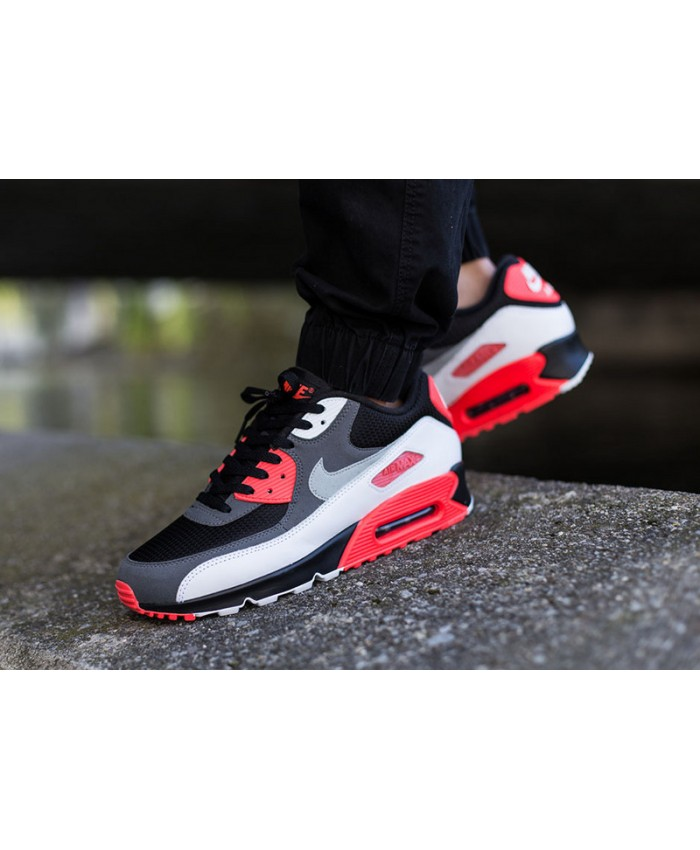 Homme Nike Air Max 90 Essential Noir Rouge Blanc
