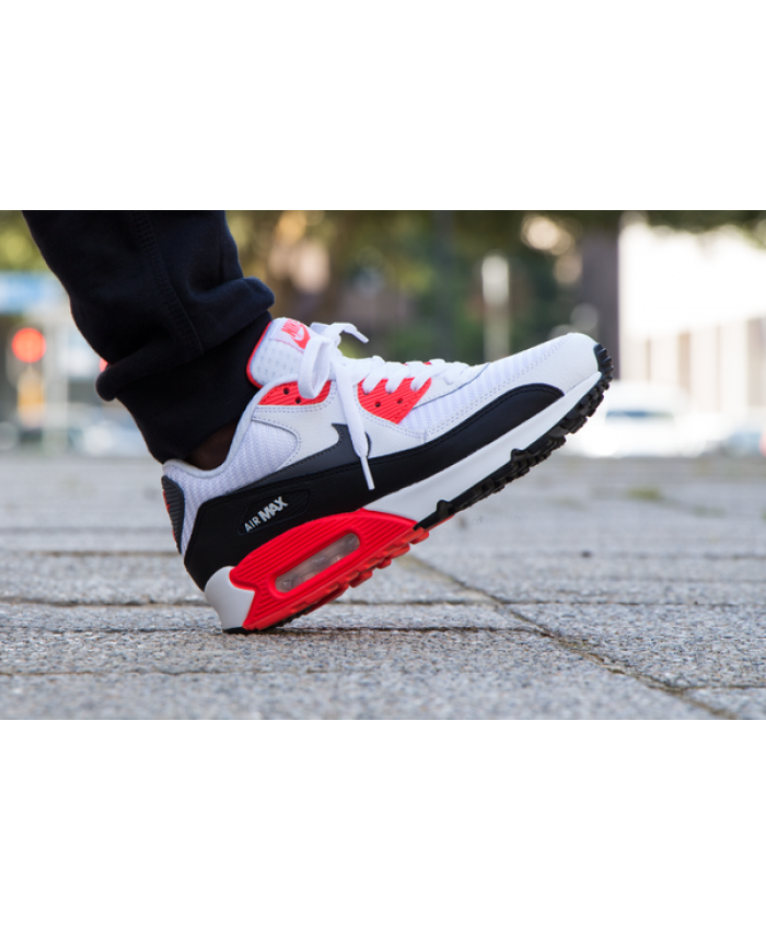 Homme Nike Air Max 90 Essential Rouge Blanc Noir