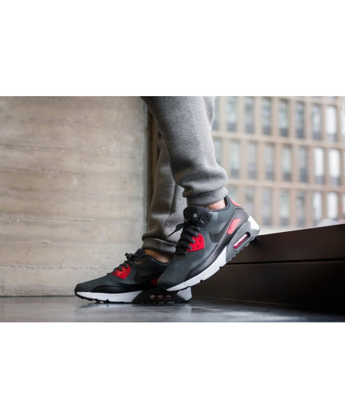 Homme Nike Air Max 90 Ultra 2.0 Essential Anthracite Noir Rouge