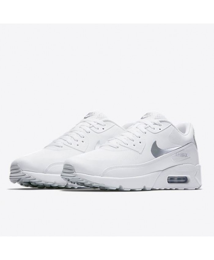 Homme Nike Air Max 90 Ultra 2.0 Essential Blanc Metallic Argent