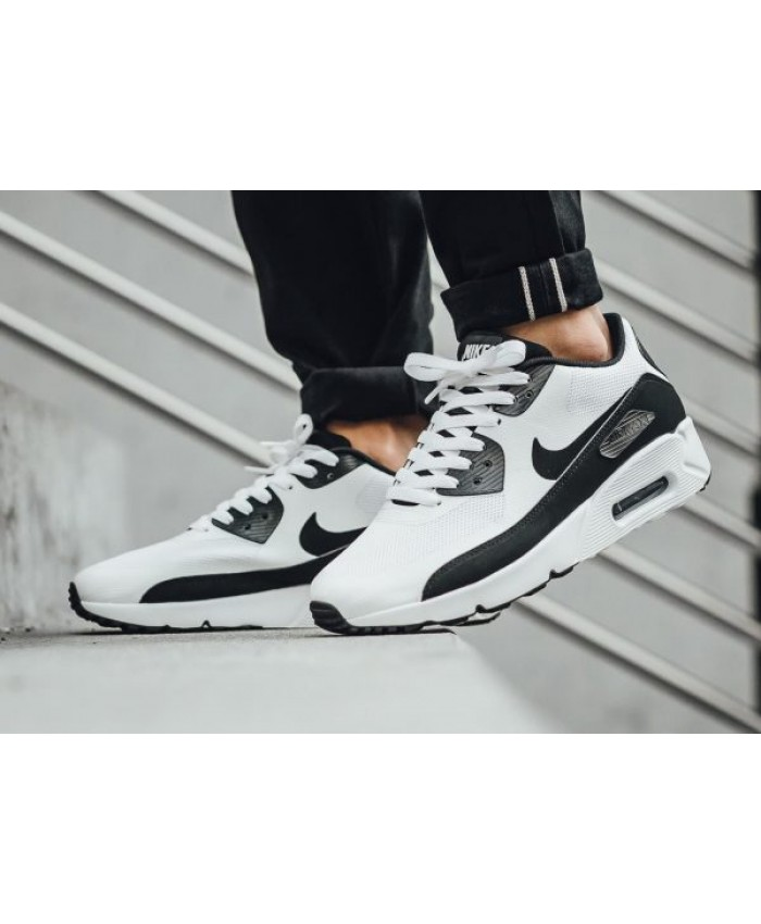 Homme Nike Air Max 90 Ultra 2.0 Essential Blanc Noir