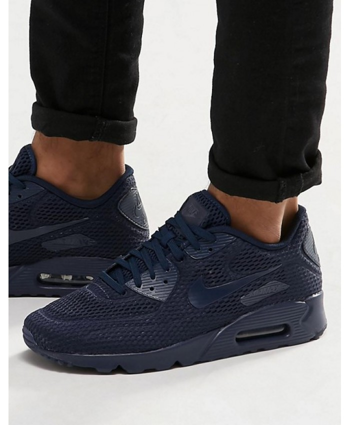 Homme Nike Air Max 90 Ultra Breathe Bleu Chaussures