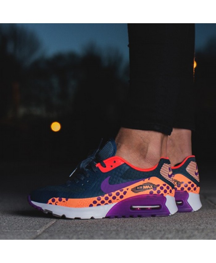 Homme Nike Air Max 90 Ultra Breathe Deep Bleu Violet Orange