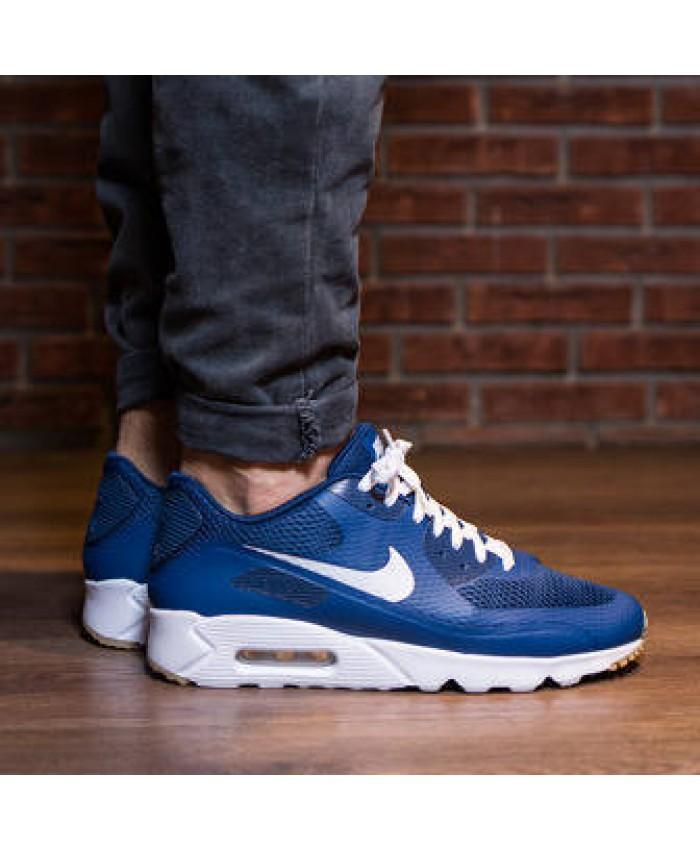 Homme Nike Air Max 90 Ultra Essential Bleu Blanc