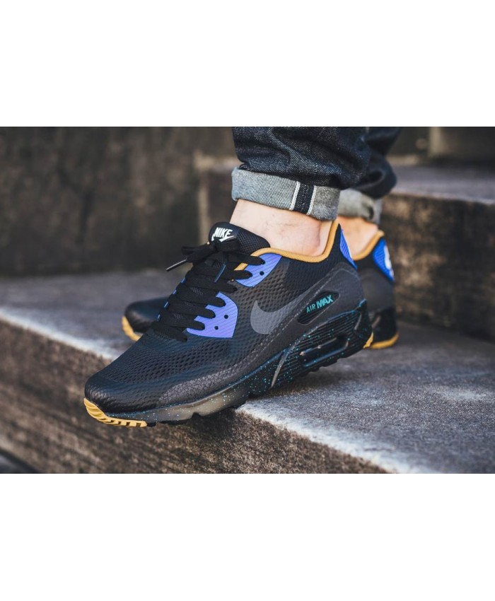 Homme Nike Air Max 90 Ultra Essential Noir Bleu