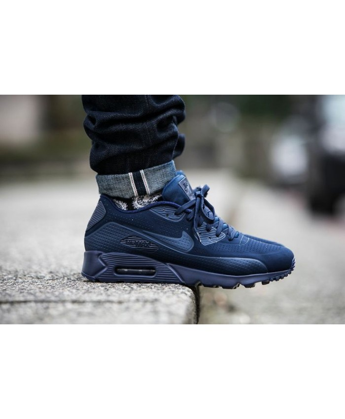Homme Nike Air Max 90 Ultra Moire Bleu