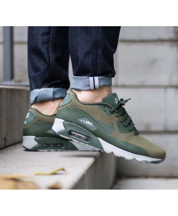 Homme Nike Air Max 90 Ultra Moire Olive Gris Blanc