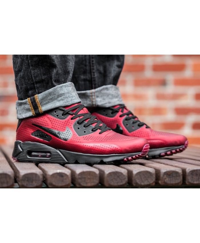 Homme Nike Air Max 90 Ultra Moire Rouge Noir