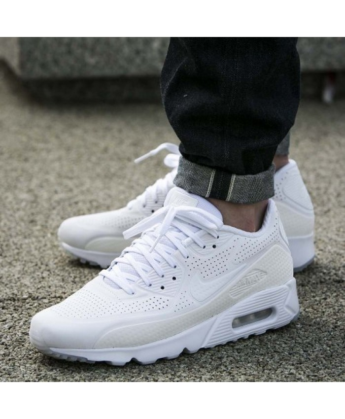 Homme Nike Air Max 90 Ultra Moire Tout Blanc Chaussures