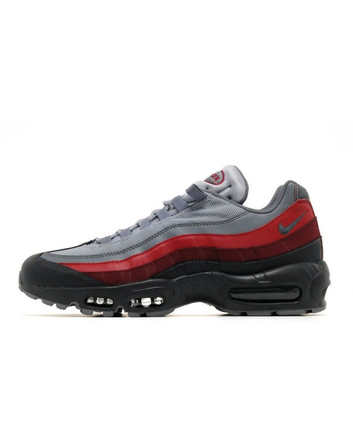 Homme Nike Air Max 95 Essential Gris Rouge Noir