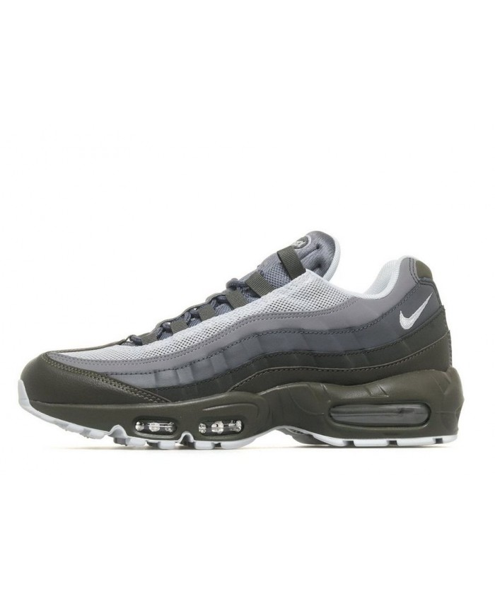Homme Nike Air Max 95 Olive Gris Blanc