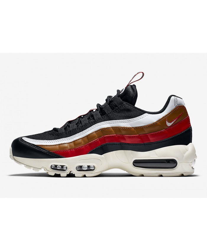 Homme Nike Air Max 95 Pull Tab Bleu Rouge Marron